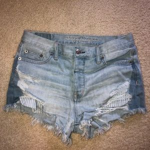 American Eagle Vintage High Rise Button Up Shorts